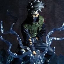 19cm Anime Naruto Shippuden GEM TSUME Ultimate chidori Kakashi PVC Action Figure Doll Resin Collection Model Toy Gift Cosplay