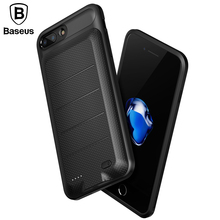 Baseus Battery Case For iPhone 6 6s 7 Plus Battery Charging Case For iPhone Charger Case Mobile Phone Powerbank Power Bank Case(China)