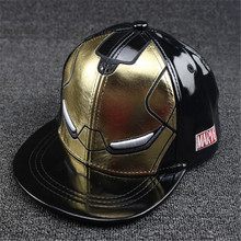 New Cool Iron Man Boys Girls Caps Kids Baseball Cap Children's Hat Snapback Hip Hop Hats Visor Hats Kids casquette de baseball(China)