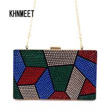 Multi color Purse Crystal mini wedding party clutch evening bag handbag Wristlets women's shoulder bag with Chain Clutch Bag 817(China)