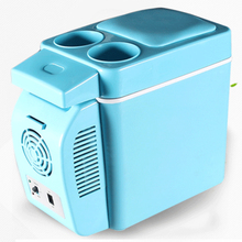 7L retro car fridge portable fridge single door car cooler thermoelectric cooler box blue gray dc12V(China)