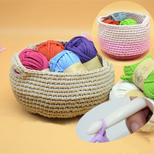 Set Of 3pcs Cloth Yarn With 10mm Crochet DIY Knitting Wool For Rugs Woven Thread 100% Polyester Thick Yarn