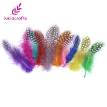 about 5-12cm Random mixed colors Chicken pheasant feathers beautiful gull feather plume decoration accessories 48pcs 077007(China)