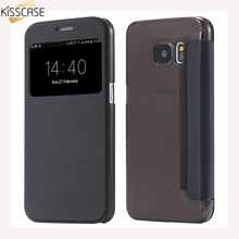 KISSCASE For Samsung Galaxy S7 S7 Edge Case Fashion Cloth Pattern Leather Flip Case For Samsung Galaxy S8 S8 Plus S6 Egde Plus