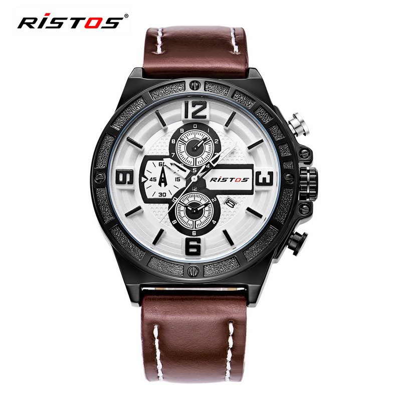 2017 Brand Fashion Men Sport Watches Quartz Clock Man Leather Strap Military Army Waterproof Wrist Watch relogio masculino 93009<br><br>Aliexpress