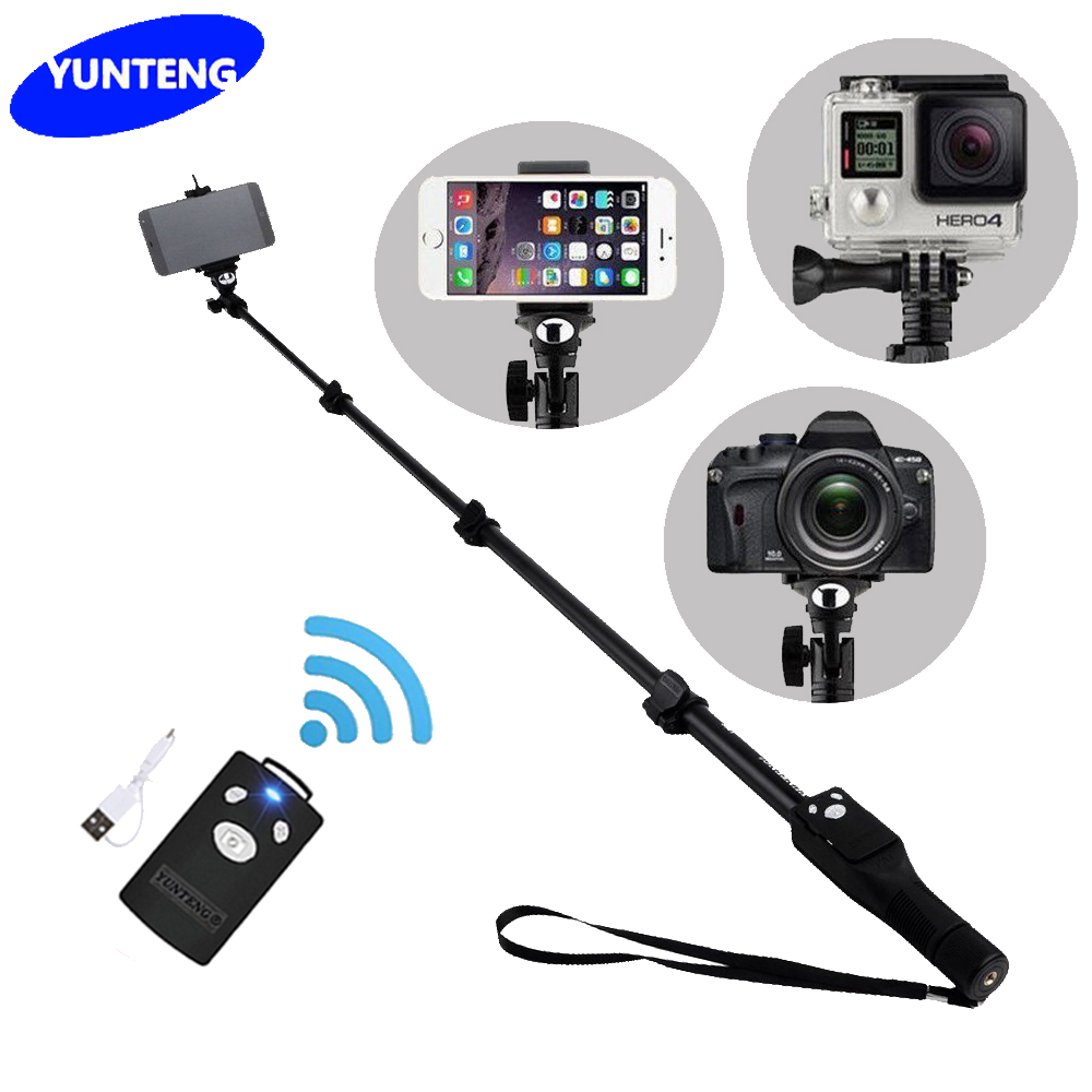 For Gopro Dslr Camera IOS Android Phone Selfie Stick Yunteng 1288 Bluetooth Extendable Handheld Yt-1288 Tripod Monopod VS 188<br><br>Aliexpress