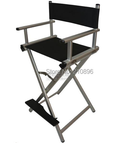 Makeup Chairs Station Artist Cosmetic Rolling Case With Lights Mirror Legs Silver And Black