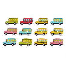 Hoomall 50PCs Mixed Color Car Wooden Buttons Two Holes Handmade Scrapbooking Decoration Crafts Sewing Accessories