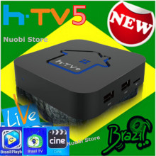 [Genuine]HTV5 H.TV 5 HTV 5 BOX HTV3 Brazilian Portuguese TV Internet Streaming Box Live IPTV tv Movies brasileiros Streaming Box