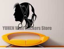 Creative Salon Hair Wall Sticker Barber Shop Vinyl Sticker Home Children's Bedroom Nursery Art Decoration Oracal Removable Mural