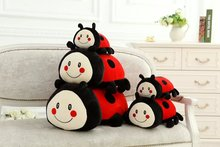 40cm lovely Lady beetle animal plush toys doll kawaii Soft pillow Room decoration girlfriend kids Children's day birthday gif(China)