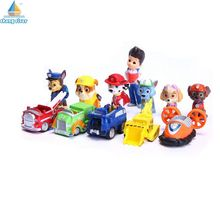 [Chang River] 12Pcs/Set Canine Patrol Dog Dodel Model Toys Anime Doll Action Figures Car Patrol Puppy Patrulla Canina Juguetes