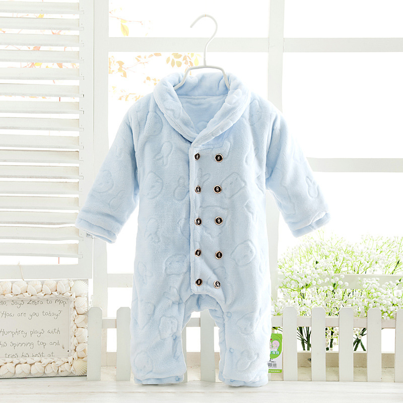 2016 Autumn Winter Baby Rompers baby coral fleece brand Jumpsuit baby girls boys romper newborn toddle clothing<br><br>Aliexpress