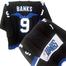 HAWKS ADAM BANKS #9 MIGHTY DUCKS MOVIE Black Hockey Jersey Embroidery Stitched Customize any number and name Jerseys