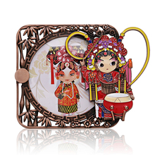2017 Free Logistics Peking Opera Face Picture Frame Flower Mulan Paper Box Carton Outlet Small Gift Foreign Affairs LPXK106-2(China)