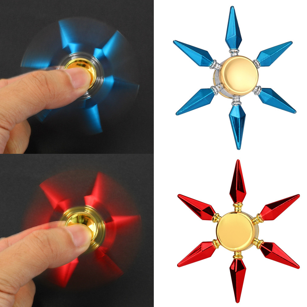 NEW Alloy Hand Spinner Fidget metal fusion Triangle Focus Toy EDC Fingertip Spin Gyro Relieves ADHD Autism HOT Sale spinners