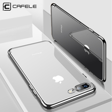 CAFELE case for iPhone 8 7 plus plating soft TPU cases ultra thin transparent shining case for iPhone 8 7 Mixed silicon cover(China)
