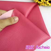 "Fuchisia Big Lychee Pattern PU Synthetic Leather Faux Leather Fabric Upholstery Car Interior Sofa Cover 54"" Wide Per yard(China)"