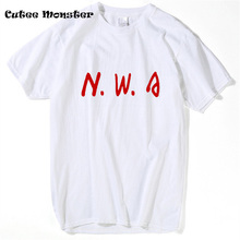 Niggaz Wit Attitude T Shirt Men 2017 Summer NWA (N.W.A.) Straight Outta Compton Letter T-Shirt American Hip Hop Group Rap Tees