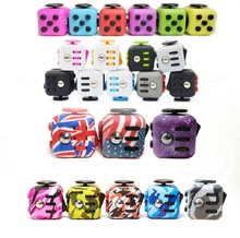 24 Colors Fidget Cube Camouflage Original Toys Silicone Frosted Anti Stress Toys Best Fidget Cube American flag Starry Violet
