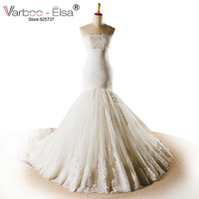 VARBOO_ELSA Feather wedding dress 2014 a-LINE Wedding dress white sweetheart long Train bridal gowns real Pictures Wedding Dress(China)