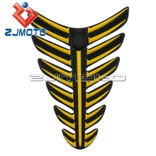 Universal Motorcycle Sticker 3D Rubber Motorcycle Modified Decal Sticker Gas Oil Fuel Tank Pad Protector For SUZUKI HONDA YAMAHA(China)