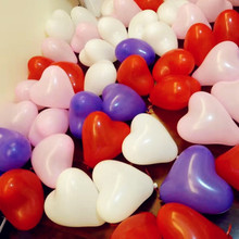 Heart shaped Thickening Wedding supplies Party Birthday balloon 10inch 2.0g Romantic Pink Latex Balloon 50pcs/pack(China)