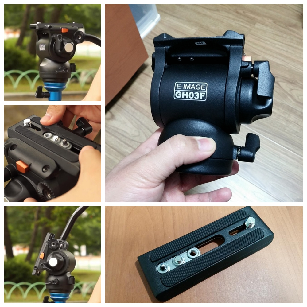 E-IMAGE GH03F 5KG bear camera video photo hydraulichead fluid head Panoramic for tripod monopod DSLR Camcorder shooting 0