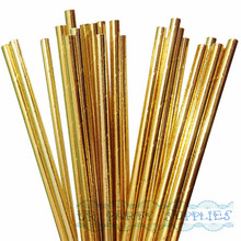 500pcs Solid Gold Foil Paper Straws for  Wedding Baby Shower Party Decor Supply Choose Colors Paper Straws Wholesale