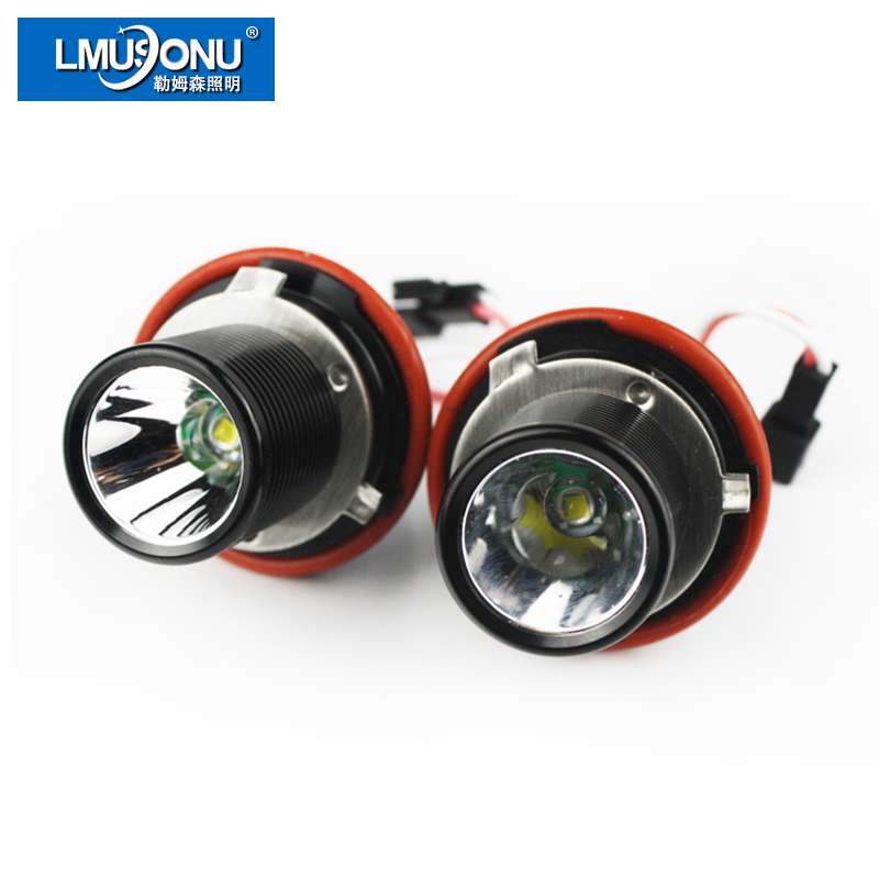 LMUSONU 10W LED ANGEL EYES ORIGINAL For CR CHIP FOR BMW E39 1000LM BEST QUALITY Aluminium Headlight Assembly<br>