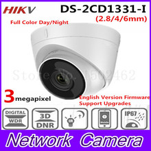 Free shipping 2017 New Arrival HiK 3.0 MP CMOS Network Turret Camera DS-2CD1331-I replace DS-2CD2335-IHD CCTV IP Camera IP 67