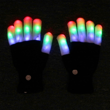ITimo Color Changing Finger Light Creative Cute Flashing Gloves Lamp LED Night Light Novelty Lighting Gift For Children