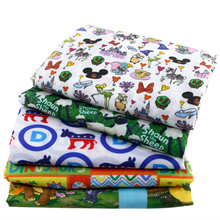 50*145CM patchwork printed Cartoon Polyester  fabric cotton for Tissue Kids Bedding home textile for Sewing Tilda Doll,c421
