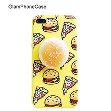 Lovely 3D Soft Buns and Hamburgers Phone Cases For iphone 6 6s 6plus 7 7Plus Cartoon Soft TPU Back Cover It's Very Funny Capa