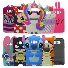 Silicon Cat Case For Coque Samsung Galaxy J5 2016 Case J510 J510F SM-J510F 3D Cartoon Animals Cover For Samsung J7 2016 J710