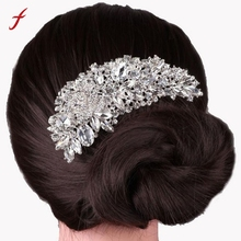 New Hot Women Hair Combs Boutique Bridal Wedding Flower Hair Comb Bridal Hair Accessories For Women Accessoire Cheveux A01(China)