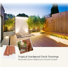 Tropical Hardwood Deck Flooring 20*90mm with Ribbed and Smooth Surface