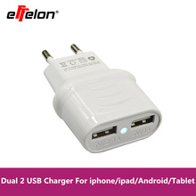 Effelon USB Charger 5V 2.1A Fast Charger EU Travel Charger USB Wall Mobile Phone Charger for iPhone/Samsung/iPad/Tablet