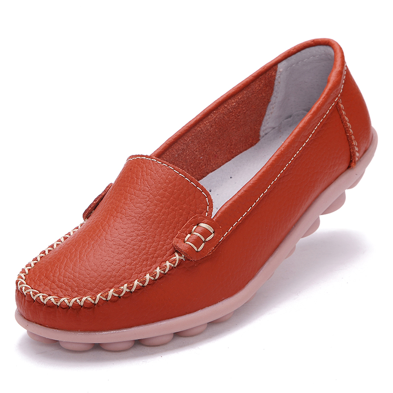 Flat Loafers Women Genuine Leather Mother Shoes Plus Size 35~40 New 2016 Moccasins Womens Soft Leisure Female Driving Shoe<br><br>Aliexpress