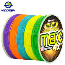 300M MODERN FISHING Brand MAX series multicolor 10M 1 Color mulifilament PE Braided Fishing Line 4 Strands braided wires