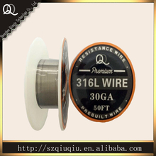 Best Best popular Stainless Steel 316L Resistance Heating Wire 30ga 50ft for ecigarette coils