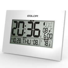 Baldr WWVB Atomic Digital Alarm Clock PMCE Time Zone Date Temperature Display Office Desk Thermometer Snooze Timer Wall Clocks(China)