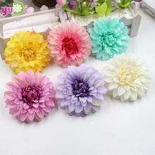 5pcs/lot 9.5 cm artificial silk corsage headdress dahlia daisy chrysanthemum flowers handmade DIY home decor head(China)