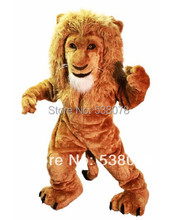 Savannah Lion Mascot Costume Adult Size Wild Animal Male Lion King Carnival Party Cosplay costumes  Suit EMS FREE SHIP SW1004