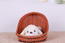 Pet kennel kennel can unpick and wash Teddy dog kennel summer cat nest nest dog supplies the cane makes up resin