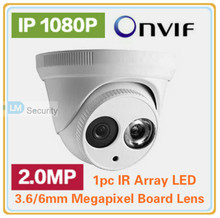 Cheapest Free Shipping 2.0MP 1/2.8'' CMOS sensor 2.0 Megapixel IR Plastic Dome IP Camera 1080P 960P 720P Support POE, ONVIF(China)