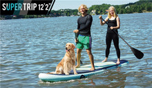 FreeShipping Aqua Marina Fusion 12'20 Stand Up Paddle Board Inflatable Surf board include oar inflation pump bag repair patch