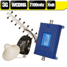400 Square Meters WCDMA 3G 2100mhz Cell Phone Booster 3G Mobile Signl Amplifier HSPA 2100 Cellular Amplifier Repeater Full Set