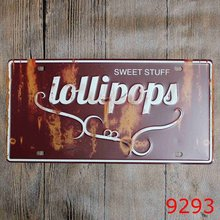 Pub Decor Wall Sticker SWEET STUFF printing Tin Sign Metal License Plate Antique Metal Tin Painting Coffee Shop Decor 30*15CM(China)