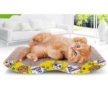 Four Shaped Cat Kitten Corrugated Scratch Board Pad Scratcher Bed Mat Claws Care Interactive Toy For Pet Cat Training Cat Toy(China)